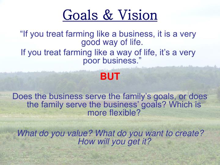 """""""If you treat farming like a business, it is a very good way of life."""