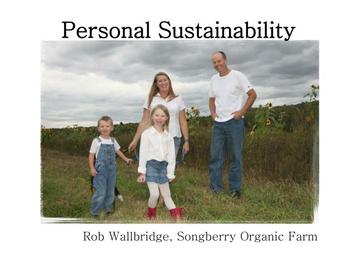 Personal sustainability