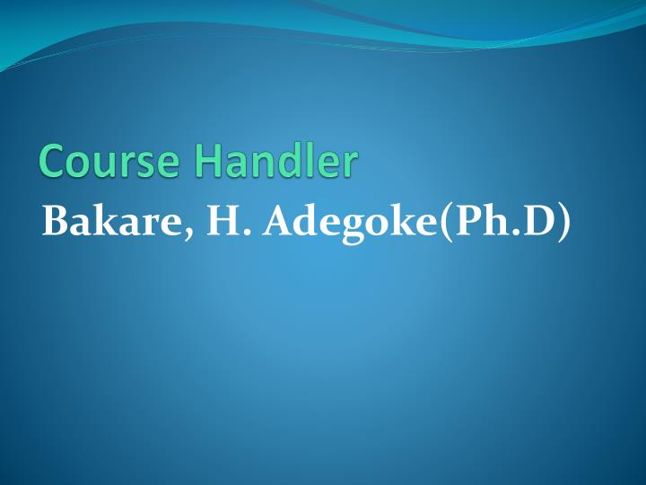 Course Handler