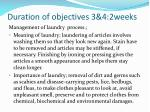 duration of objectives 3 4 2weeks1