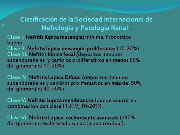 Clasificación de la Sociedad Internacional de Nefrología y Patología Renal