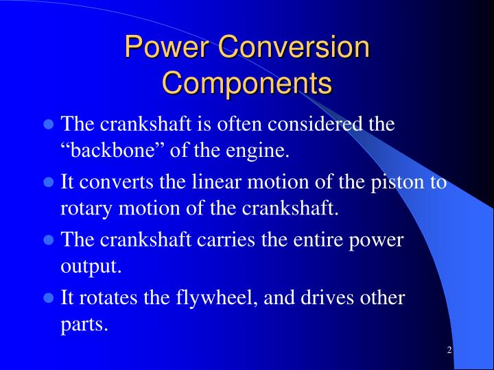 Power conversion components