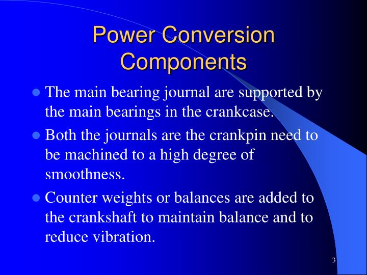 Power conversion components1