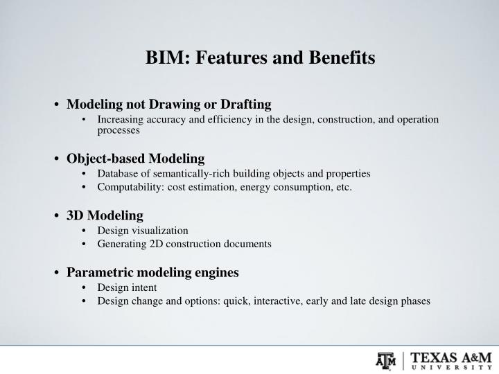 BIM: Features and Benefits