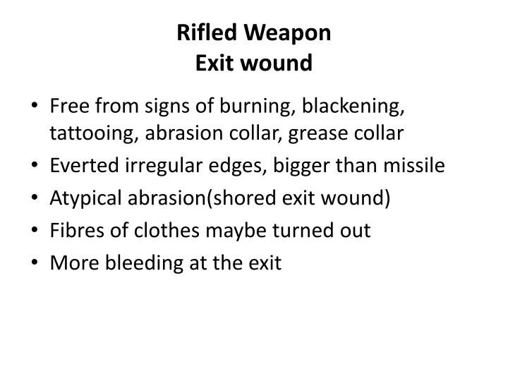 Rifled Weapon