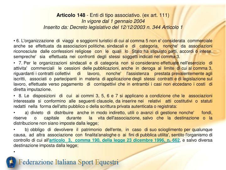 Articolo 148