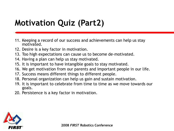 Motivation Quiz (Part2)