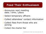 feed their enthusiasm