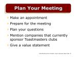 plan your meeting