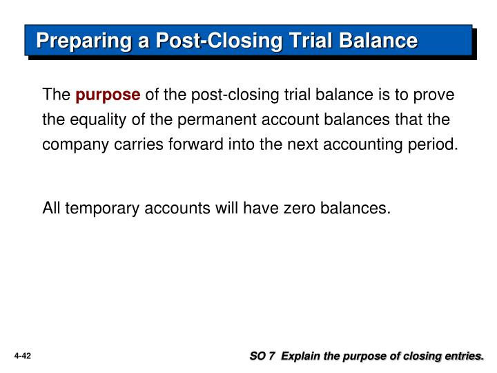 Preparing a Post-Closing Trial Balance