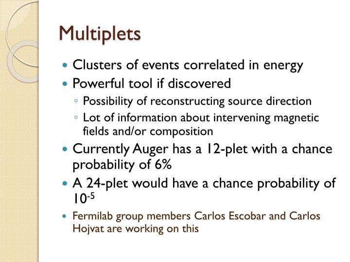 Multiplets