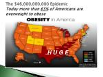 the 46 000 000 000 epidemic today more than 65 of americans are overweight to obese