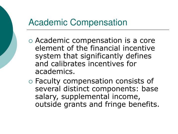Academic Compensation