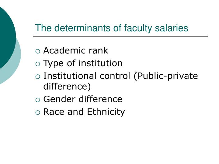 The determinants of faculty salaries