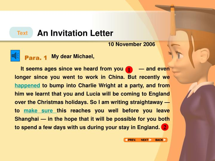 An Invitation Letter