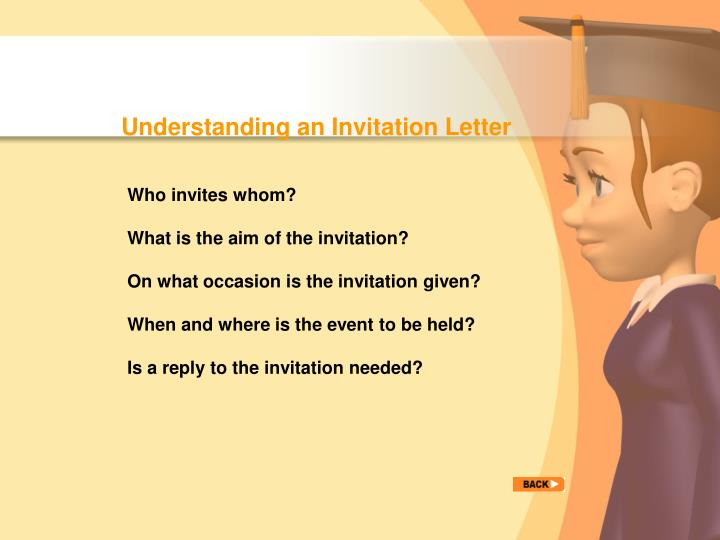 Understanding an Invitation Letter