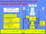 pseudo sliding mode observer and angular velocity extractor