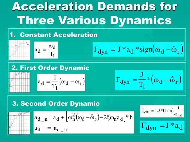 1.  Constant Acceleration