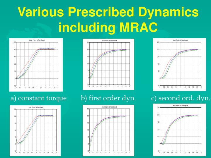 Various Prescribed Dynamics