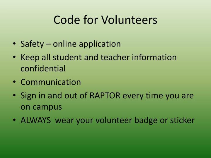 Code for Volunteers