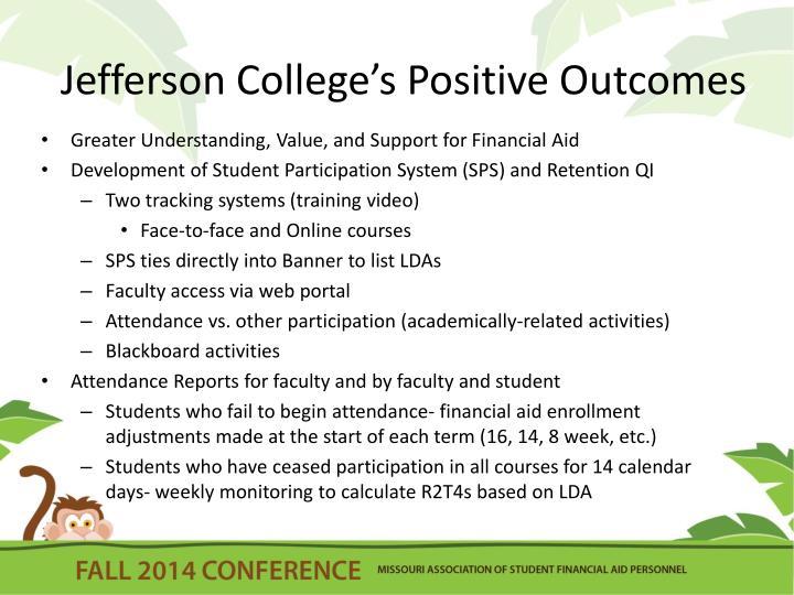 Jefferson College's Positive