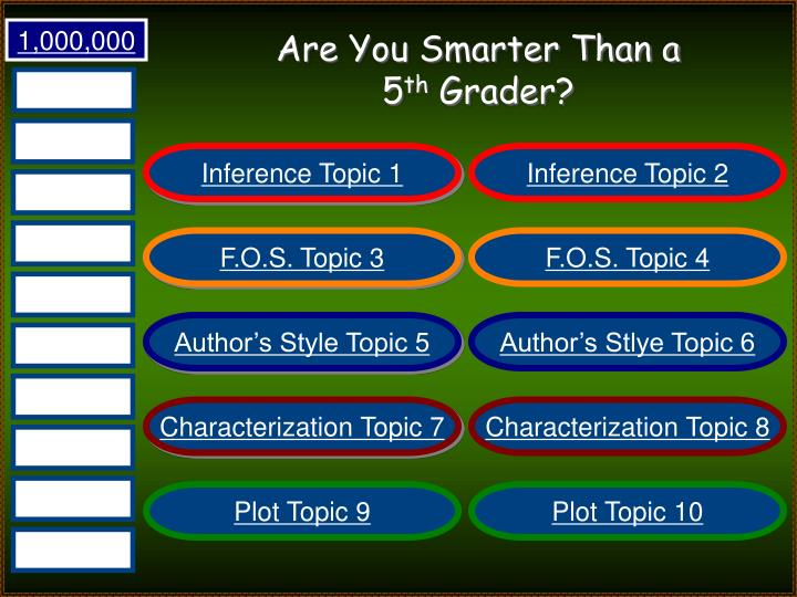 Are you smarter than a 5 th grader