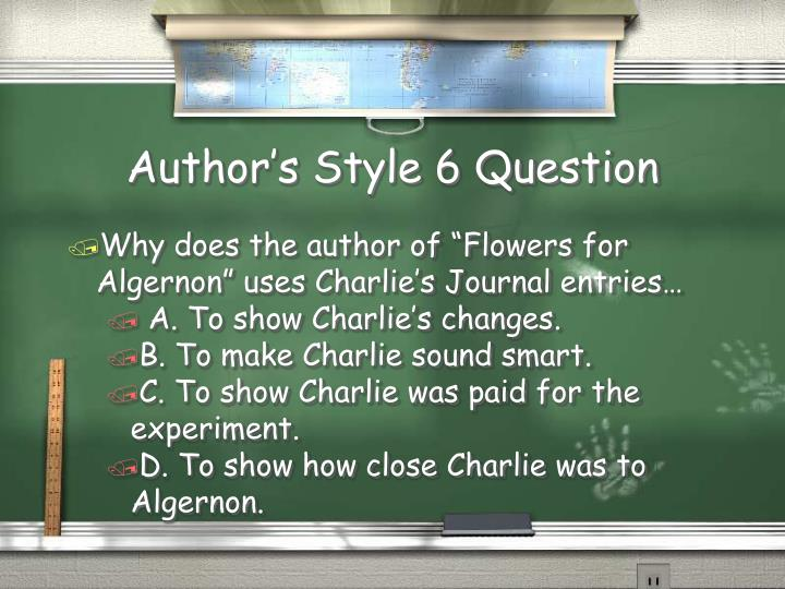 Author's Style 6 Question