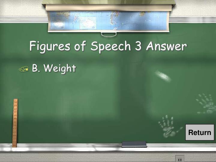 Figures of Speech 3 Answer
