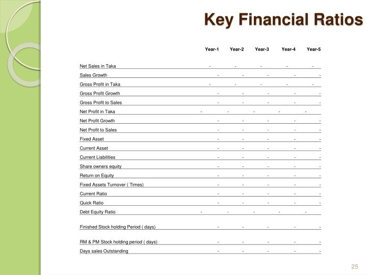 Key Financial Ratios