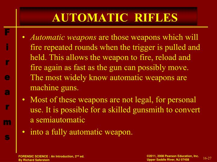 AUTOMATIC  RIFLES