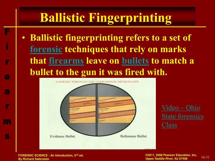 Ballistic Fingerprinting
