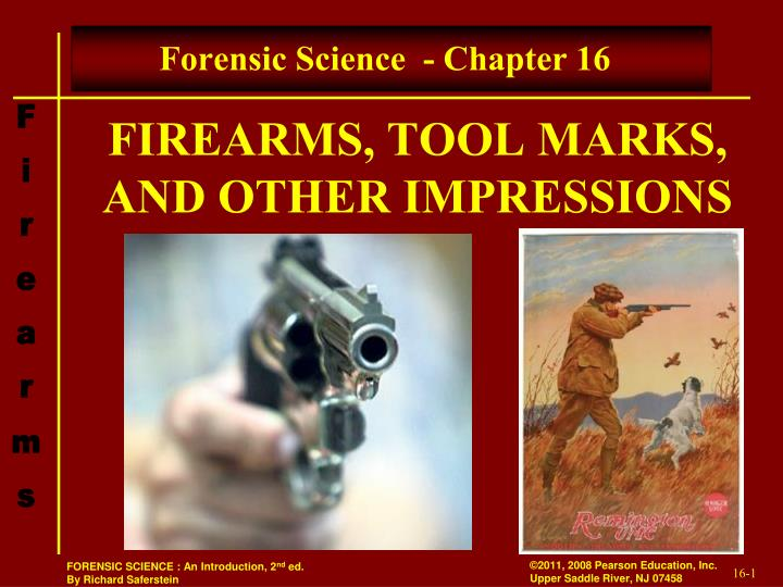 Firearms tool marks and other impressions