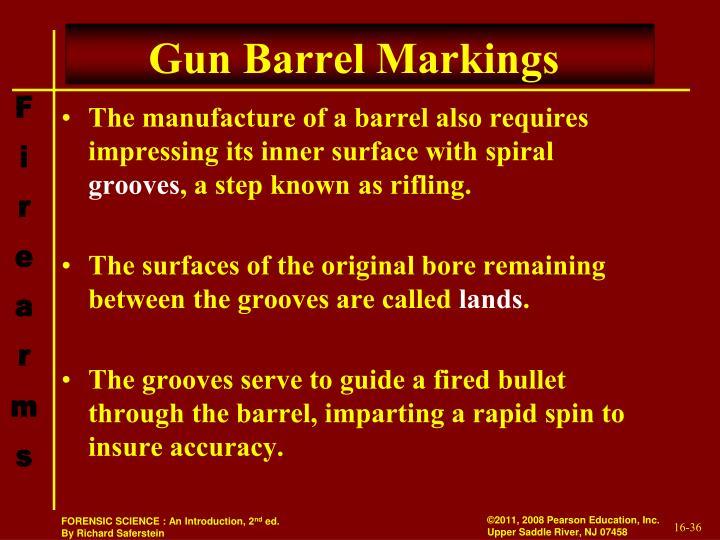 Gun Barrel Markings