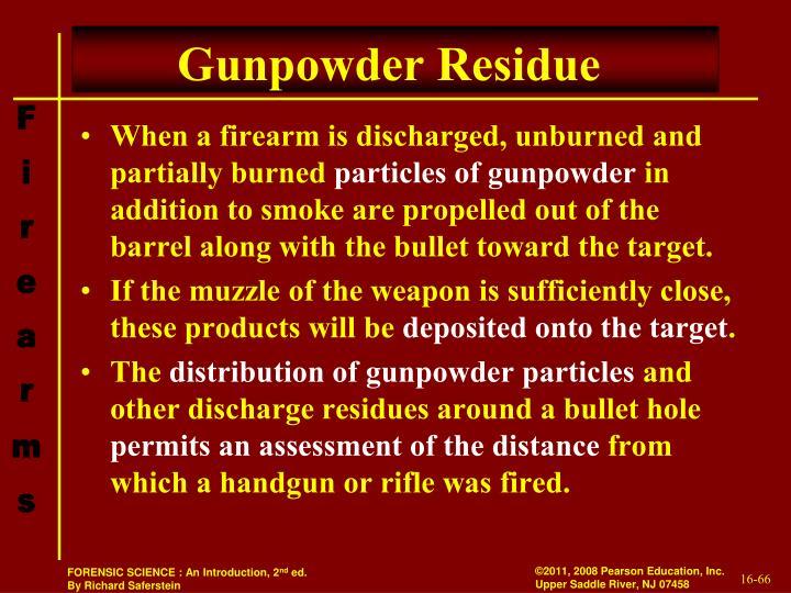 Gunpowder Residue