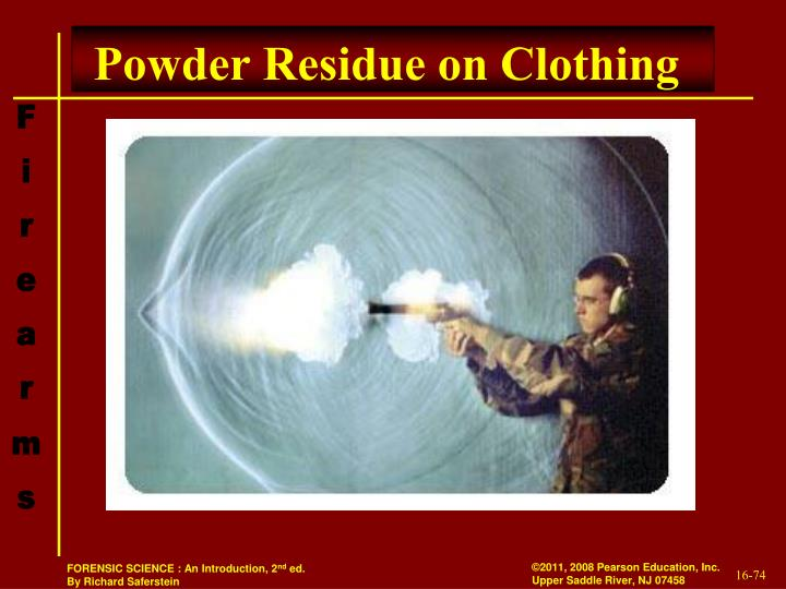 Powder Residue on Clothing