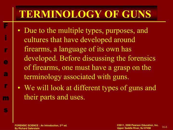 TERMINOLOGY OF GUNS