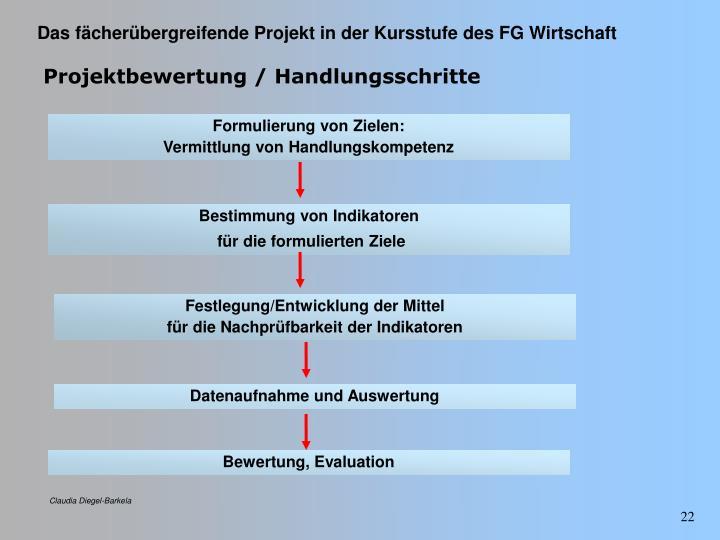 Projektbewertung / Handlungsschritte