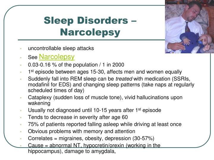 Sleep Disorders – Narcolepsy