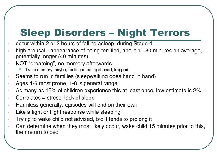 Sleep Disorders – Night Terrors