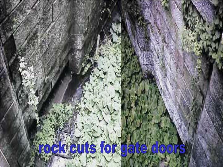 rock cuts for gate doors