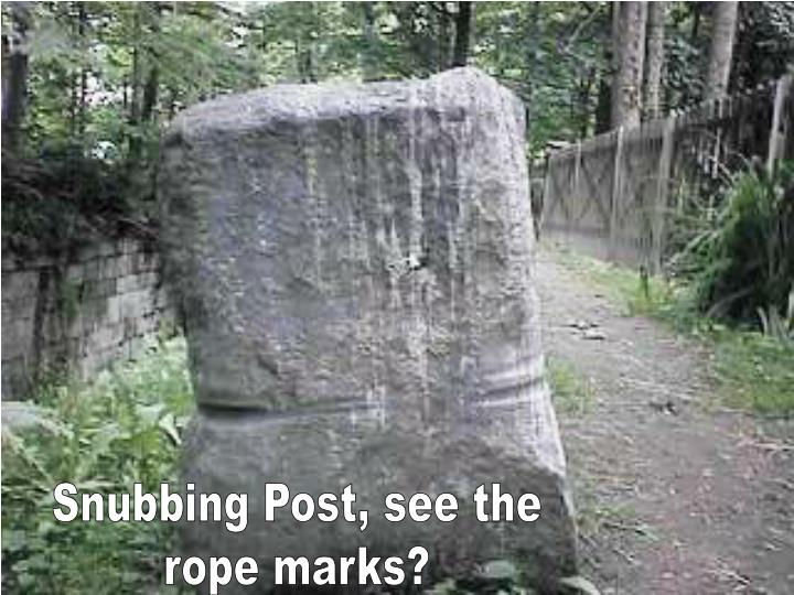 Snubbing Post, see the