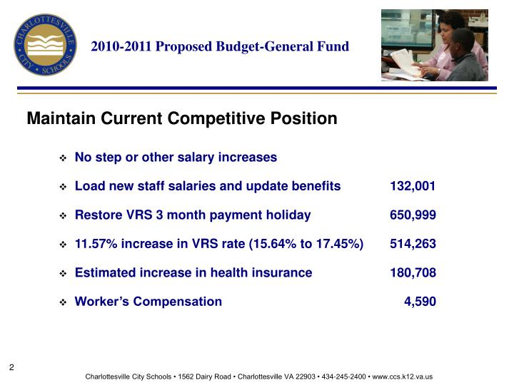 2010 2011 proposed budget general fund