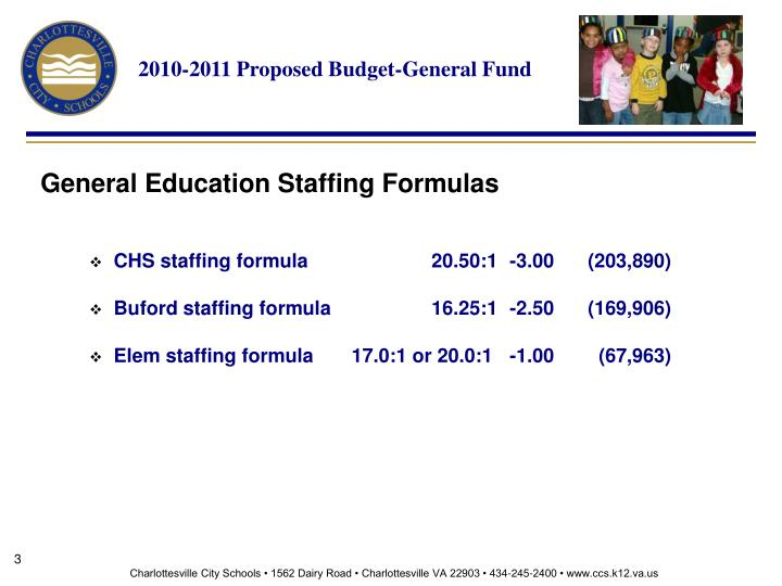 2010-2011 Proposed Budget-General Fund