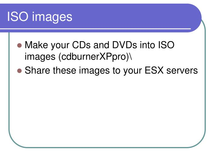 ISO images