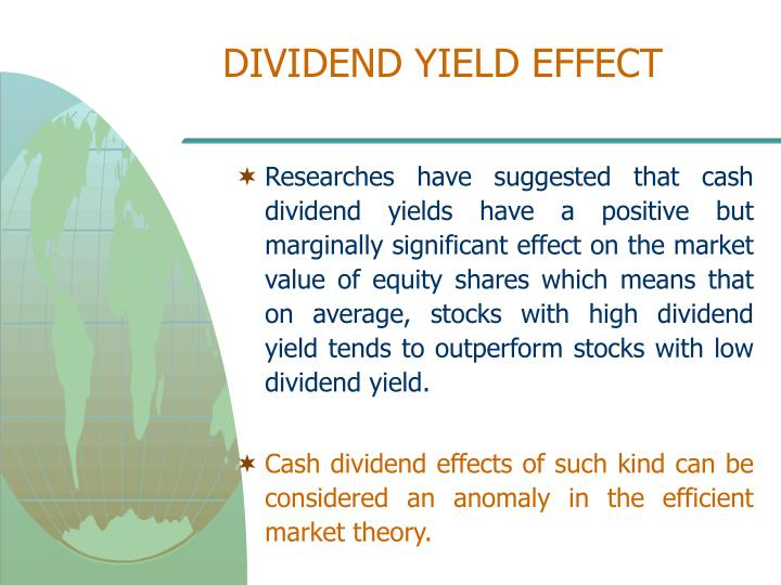 DIVIDEND YIELD EFFECT