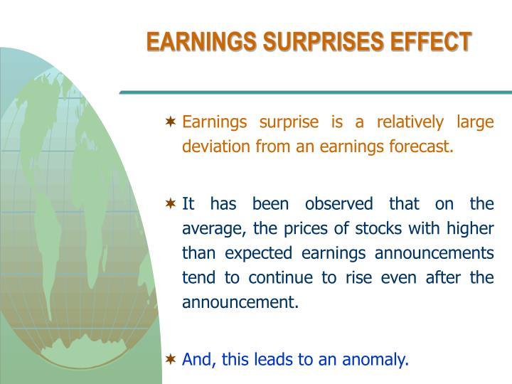 EARNINGS SURPRISES EFFECT