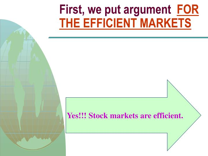 First, we put argument