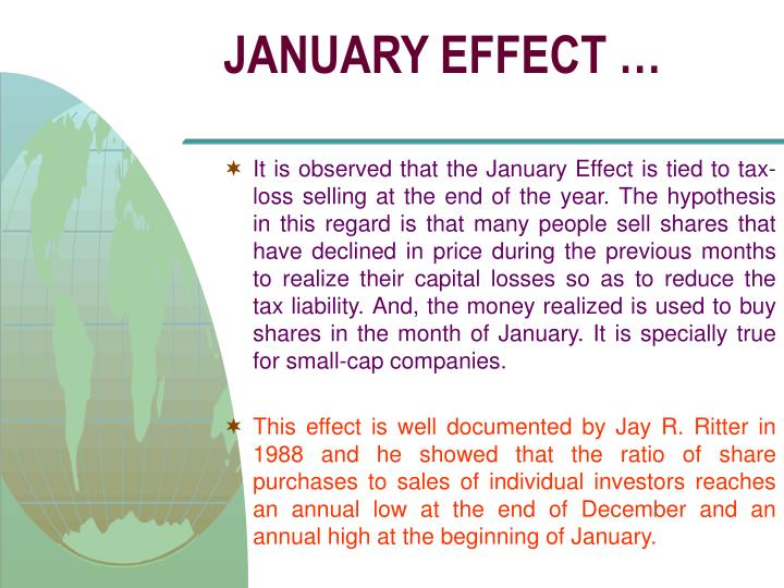 JANUARY EFFECT …
