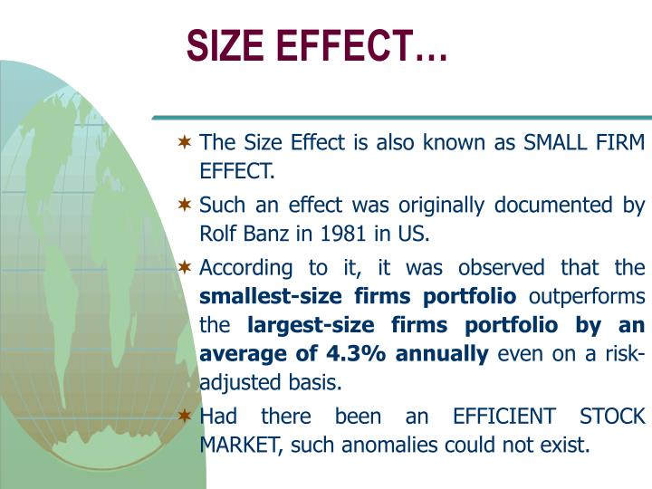 SIZE EFFECT…