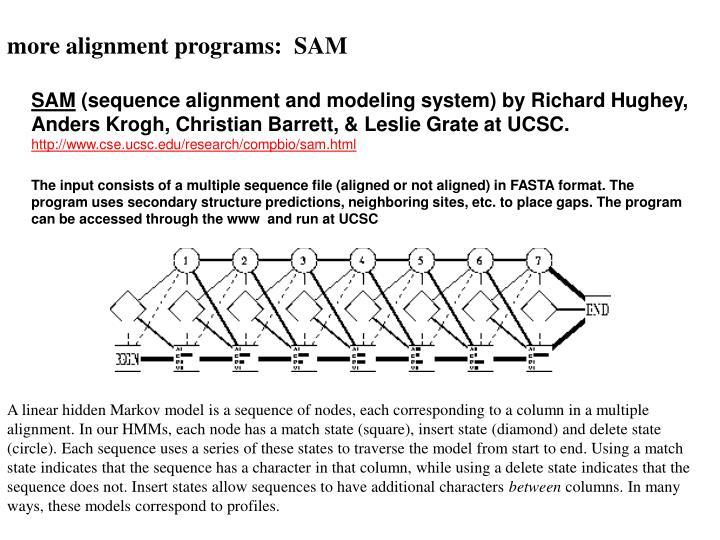 more alignment programs:  SAM